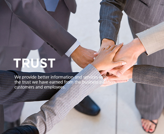 CONFIDENCE - Company believe and trust between employees and customers better information and services
